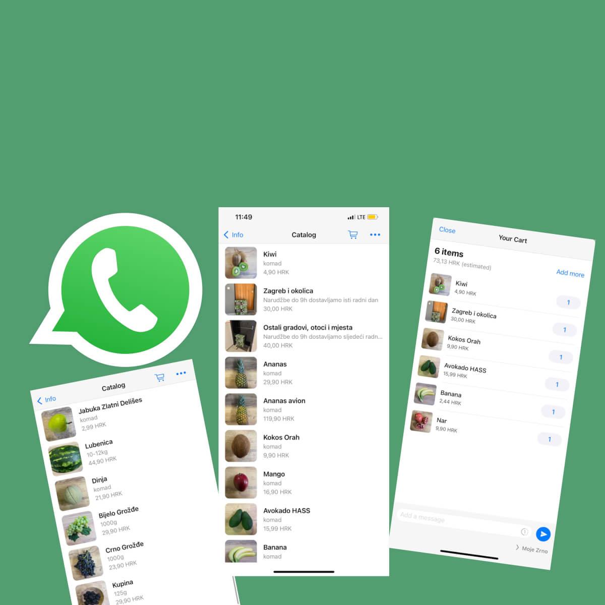 Najbrži način naručivanja preko WhatsApp-a 091 2288 004